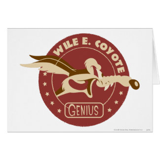Wile E. Coyote Genius Tarjeta De Felicitación