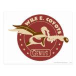 Wile E. Coyote Genius Tarjetas Postales