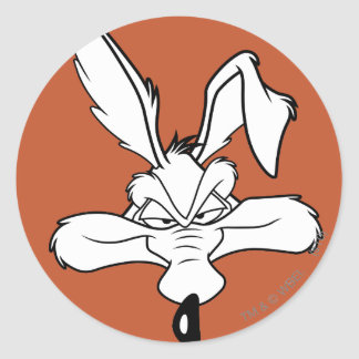 Wile E. Coyote Happy Head Shot Classic Round Sticker