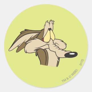 Wile E. Coyote Impending Doom Classic Round Sticker