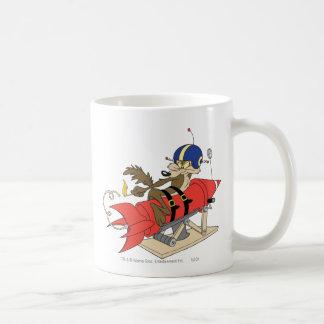 Wile E. Coyote Launching Red Rocket Classic White Coffee Mug