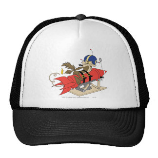Wile E Coyote Launching Red Rocket Gorros Bordados