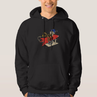 Wile E. Coyote Launching Red Rocket Hooded Pullovers