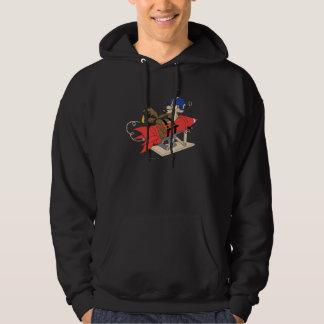 Wile E. Coyote Launching Red Rocket Hooded Sweatshirt