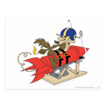 Wile E. Coyote Launching Red Rocket Postal