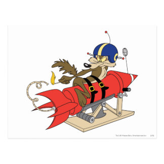 Wile E. Coyote Launching Red Rocket Postcard
