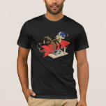 """Wile E. Coyote Launching Red Rocket T-Shirt<br><div class=""""desc"""">Wile E. Coyote Character Art</div>"""