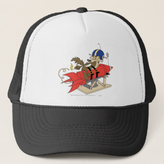 Wile E. Coyote Launching Red Rocket Trucker Hat
