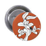 Wile E. Coyote Looking Pleased 2 Inch Round Button