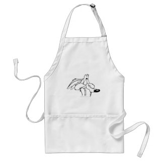 Wile E. Coyote Looking Up Adult Apron