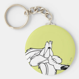Wile E. Coyote Looking Up Keychain