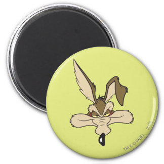 Wile E. Coyote Pleased Head Shot 2 Inch Round Magnet