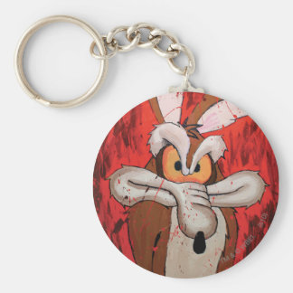 Wile E Coyote Red Fury Basic Round Button Keychain