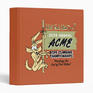 Wile E. Coyote Rope Climbing Championships 3 Ring Binder