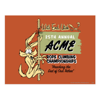 Wile E. Coyote Rope Climbing Championships Postcard