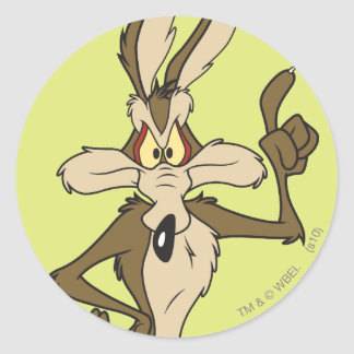 Wile E. Coyote Standing Tall Classic Round Sticker