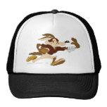 Wile E Coyote Stiff Arm B/W 2 Trucker Hats