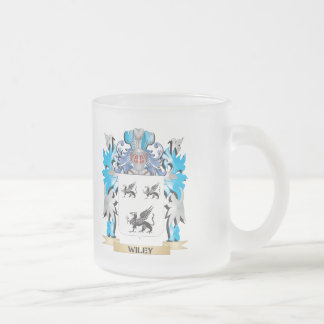 Wiley Coat of Arms - Family Crest 10 Oz Frosted Glass Coffee Mug