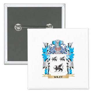 Wiley Coat of Arms - Family Crest 2 Inch Square Button
