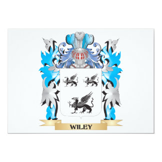 Wiley Coat of Arms - Family Crest 5x7 Paper Invitation Card