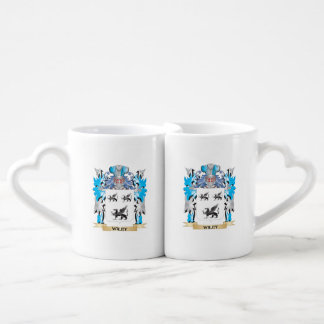Wiley Coat of Arms - Family Crest Couples' Coffee Mug Set