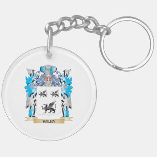 Wiley Coat of Arms - Family Crest Double-Sided Round Acrylic Keychain