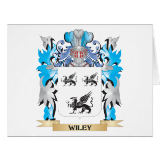Wiley Coat of Arms - Family Crest Large Greeting Card