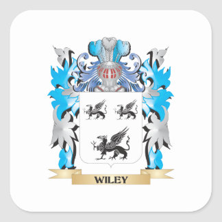 Wiley Coat of Arms - Family Crest Square Sticker