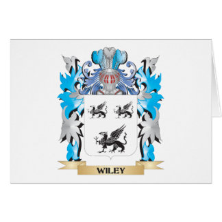 Wiley Coat of Arms - Family Crest Stationery Note Card