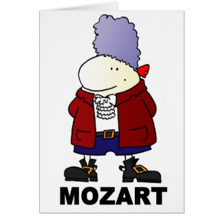 Wilf Mozart Greeting Card