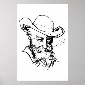 Wilhelm Busch Self Portrait Poster