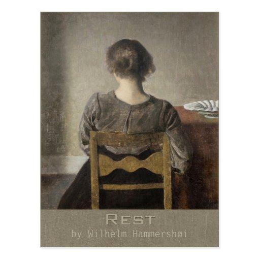 Wilhelm Hammershøi Rest CC0692 Postcard