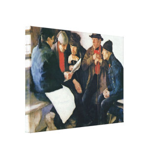 Wilhelm Leibl - The village leaders Canvas Print