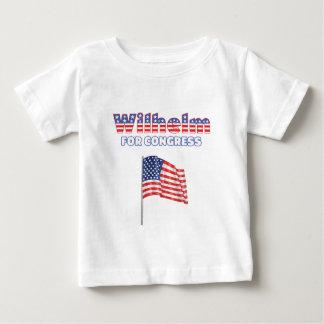 Wilhelm para la bandera americana patriótica del polera