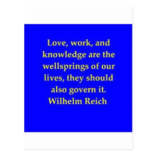 wilhelm reich quote post card