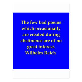 wilhelm reich quote postcard