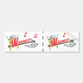 Wilhelm Ricahrd Wagner - German Composer Musician Bumper Sticker