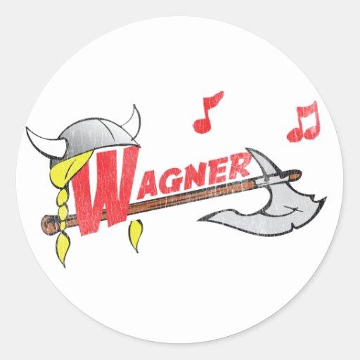 Wilhelm Ricahrd Wagner - German Composer Musician Classic Round Sticker