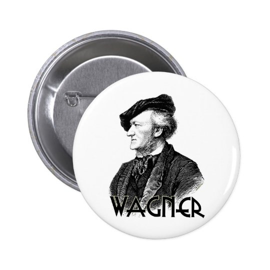 Wilhelm Richard Wagner Pin Redondo De 2 Pulgadas