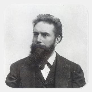 Wilhelm Rontgen Pegatina Cuadrada