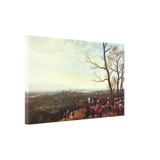 Wilhelm von Kobell - Siege of Kosel Canvas Print