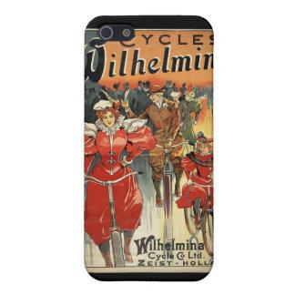 Wilhelmina retro monta en bicicleta el iPhone 4 de iPhone 5 Protector
