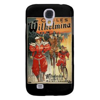 Wilhelmina retro monta en bicicleta el vintage 3G
