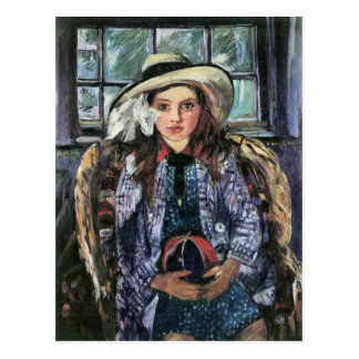 Wilhelmina with ball by Lovis Corinth Post Card