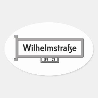 Wilhelmstrasse, Berlin Street Sign Oval Sticker