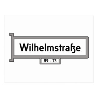 Wilhelmstrasse, Berlin Street Sign Postcard