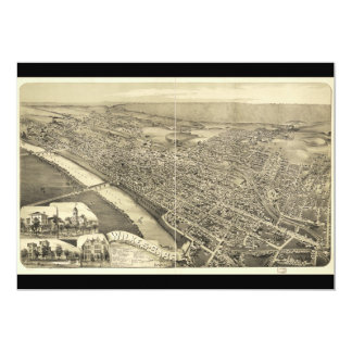 """Wilkes-Barra, Pennsylvania (1889) Invitación 5"""" X 7"""""""