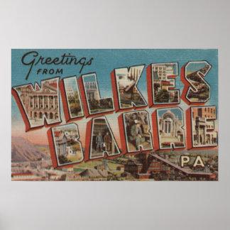 Wilkes-Barra, Pennsylvania - escenas grandes 2 de  Póster