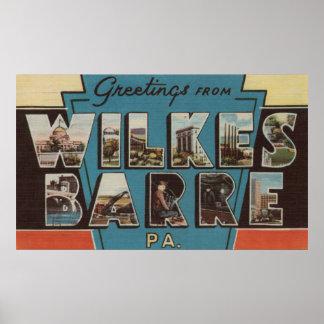 Wilkes-Barra, Pennsylvania - escenas grandes de la Póster