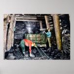 Wilkes Barre Pennsylvania Coal Mining in Shaft Poster